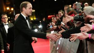 Le Prince William sur le tapis rouge des BAFTAS 2014, le 16 février 2014 à Londres.