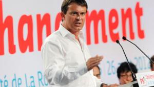 Manuel Valls lors de l'université d'été du PS à la Rochelle.