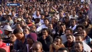 Israël : manifestation de migrants africains, les images
