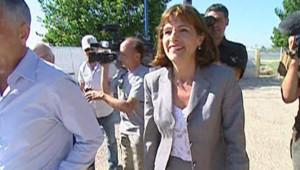 Anne Lauvergeon, présidente du directoire d'Areva, sur le site de la centrale nucléaire Socatri (18 juillet 2008)