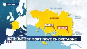 Bretagne : un jeune homme de 19 ans meurt noyé à cause d'un défi Facebook