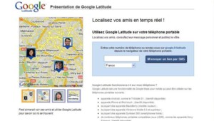 Capture écran de la présentation de Google Latitude (4 février 2009)