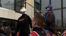 Des salariés de Continental à Reims, le 16 mars 2009