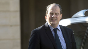 Jean-Christophe Cambadélis le 14 mai à l'Elysée après une rencontre avec François Hollande