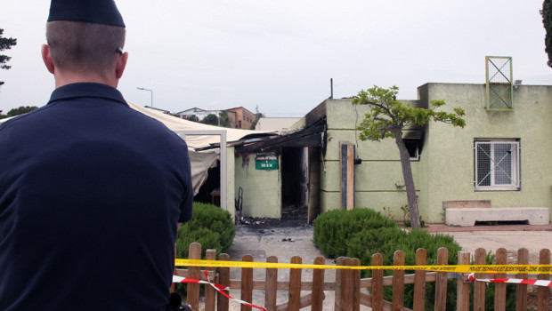 La salle de prière musulmane incendiée le 30 avril 2016 à Ajaccio