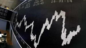 Fébrilité sur les marchés : évokution du Dax à la Bourse de Francfort (7 octobre 2008)