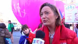 Ludivine de la Rochere, organisatrice de la Manif pour tous, Paris le 2 février 2014