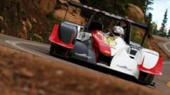 Romain Dumas sur prototype Norma lors des essais de Pikes Peak le 26 juin 2014