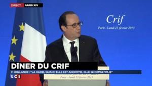 """Plan contre l'antisémitisme : """"Ce plan donnera une large place à l'école"""" selon Hollande"""