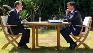 François Hollande et Manuel Valls à Brégançon (15/08/2014).