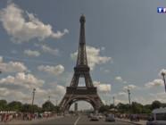 Le 13 heures du 6 août 2014 : Travaux de maintenance sur l%u2019antenne de la Tour Eiffel : visite guid�des lieux - 735.945