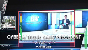 Le 20 heures du 9 avril 2015 : Une cyberattaque sans précédent a touché TV5Monde. - 21.889