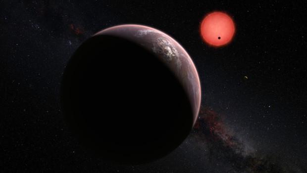 Trois exoplanètes ont été observées orbitant autour d'une naine rouge