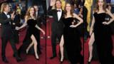 Oscars : la jambe droite d'Angelina Jolie vole la vedette à Jean Dujardin