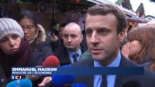 Attentats : en visite à la Défense, Macron veut rassurer