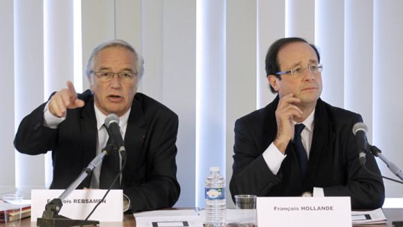 François Rebsamen avec François Hollande