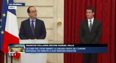 """Hollande à Valls : """"Vous êtes un enfant de la République"""""""