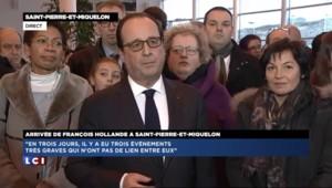 """Hollande : """"Les trois événements n'ont pas de lien entre eux mais il y a une concomitance"""""""