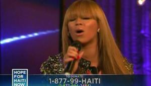 """Image extraite de l'émission """"Hope for Haiti Now"""""""