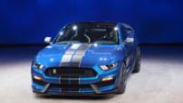 La Ford Mustang Shelby GT350R Mustang présentée au Salon de Detroit avec le V8 atmosphérique de 500 chevaux.