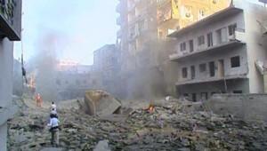 TF1/LCI : Immeuble bombardé par l'aviation israélienne à Tyr