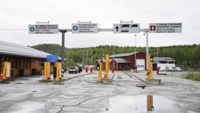 La frontière entre la Norvège et la Russie, près de la ville de Kirkenes.