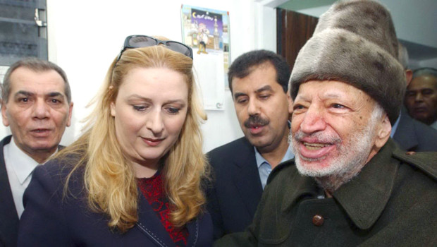 Yasser Arafat et sa femme Souha. Le 29 octobre 2004. 