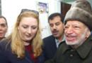 Yasser Arafat et sa femme Souha. Le 29 octobre 2004.