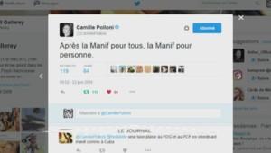 """Camille Poloni : """"Après la manif pour tous, la manif pour personne"""""""