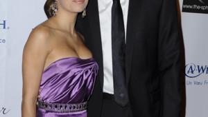 Eva Longoria et Tony Parker lors du gala de bienfaisance organisé à Paris le 21 septembre 2009.
