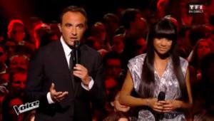 Nikos Aliagas lors du deuxième show en direct de The Voice 4