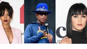 Rihanna, Pharrell Williams et Katy Perry