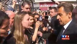 Sarkozy sermonne un jeune homme