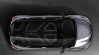Vue de toit du Renault Captur Pure, série limitée lancée en février 2015