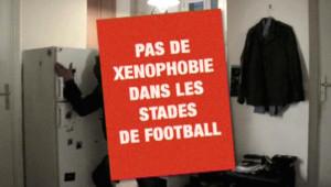 Licra : Une image extraite d'un des spots de la Licra contre la violence dans les stades de football