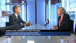 """Marine Le Pen : """"Je préférerais qu'on arrête de verser des allocations aux étrangers"""""""