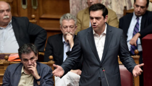 Alexis Tsipras au Parlement grec