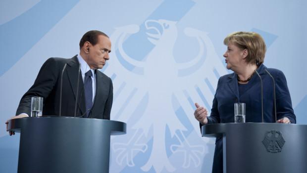 Berlusconi Merkel crise dette