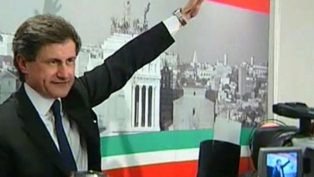 Gianni Alemanno candidat de Berlusconi Italie Rome maire