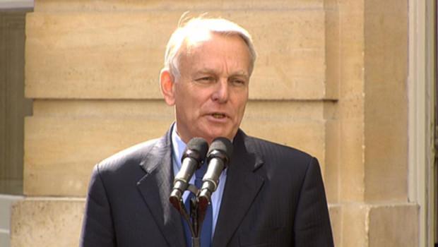 Jean-Marc Ayrault pour sa première allocution en tant que Premier ministre, le 16 mai 2012.