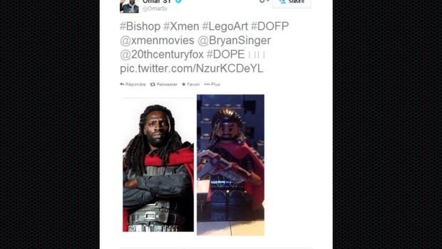 Omar Sy version X-Men et version X-Men Lego sur le compte Twitter de l'acteur