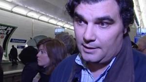 Un usager de la RATP en colère, le 22 novembre 2007
