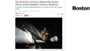 Le Boston magazine a publié des clichés de Djokhar Tsarnaev au moment de sa capture.