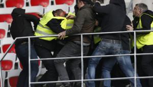 Football : incidents lors de la rencontre Nice-St-Etienne, 24/11/13