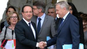 François Hollande et Jean-Marc Ayrault à l'Elysée le 6 mai 2013
