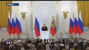 """Poutine : """"La Russie a été volée quand l'URSS a éclaté. On a oublié la Crimée"""""""