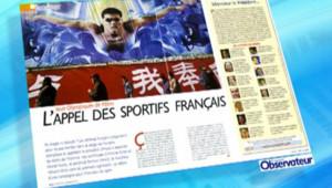 L'appel lancé par 15 athlètes français au président chinois pour les Jeux Olympiques