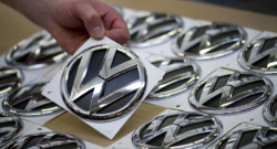 Le logo du constructeur allemand Volkswagen.
