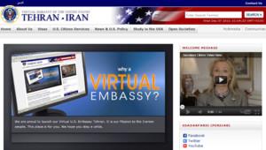 """Site de l'""""ambassade virtuelle"""" des Etats-Unis en Iran"""