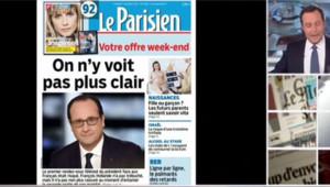 Une du Parisien au lendemain de l'intervention de François Hollande sur TF1